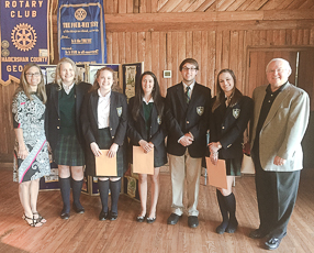 Rotary awards scholarships to TFS seniors