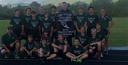 TFS middle school track and field teams win Tri-State Championship