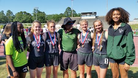 Varsity girls track and field team shines at state meet