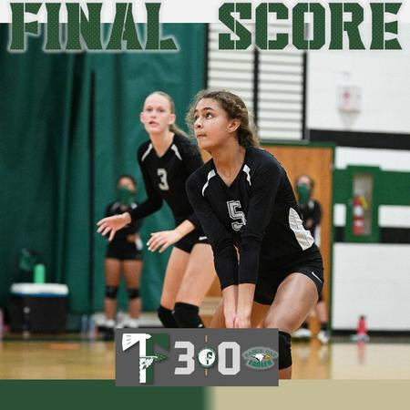 JV volleyball grabs 3-0 win over Rabun Gap