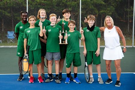 Champions: Boys middle school tennis caps undefeated season in repeat as Southern Mountain League champs