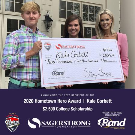 TFS senior Kale Corbett named 2020 SagerStrong Foundation Hometown Hero award winner