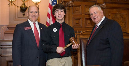 TFS Eighth Grader Rylan Pugh Serves as Legislative Page