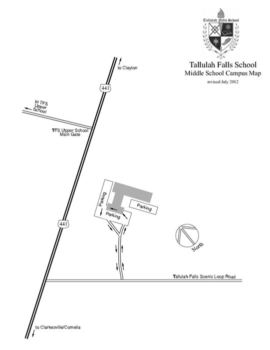 Middle School Campus Map